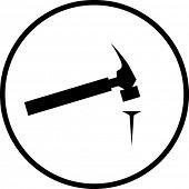 hammer and nail symbol