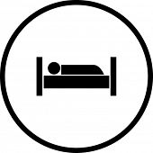 stock photo of goodnight  - sleeping in bed symbol - JPG