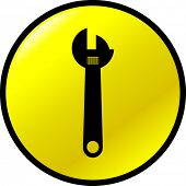adjustable wrench button