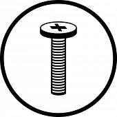 símbolo de tornillo de cabeza Phillips