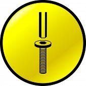 hex head screw and key symbol