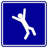 falling down sign