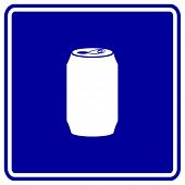 beverage can sign