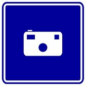 photographic camera sign