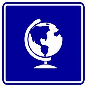 earth globe sign