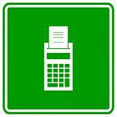 finances calculator sign