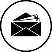 símbolo envio de dinheiro