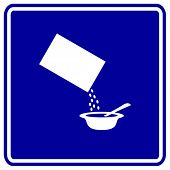 bowl of cereal sign