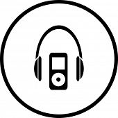 portable music player symbol
