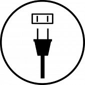 power plug and outlet symbol