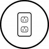 grounded power outlets symbol