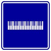 musical keyboard sign