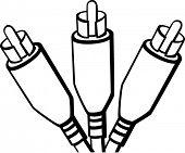 three rca plugs