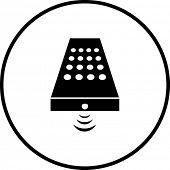 símbolo de control remoto