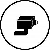 closed circuit television system security camera symbol