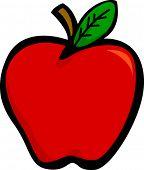 Постер, плакат: Красное яблоко
