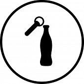 beverage bottle opener symbol