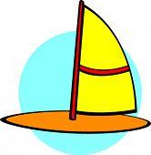 windsurf board or sailboard
