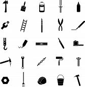 stock photo of nail-cutter  - do it yourself icon set - JPG