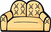 silla del sofá de dos plazas