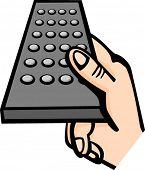 un control remoto de explotación de la mano