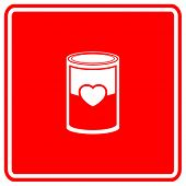 love soup or canned love sign