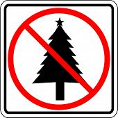 christmas prohibited sign