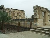 Ruins Of The Great Synagogue Of Capernaum