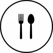 fork and spoon symbol
