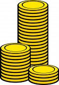 money coins tower