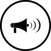 bullhorn or megaphone symbol