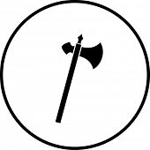 medieval antique axe weapon symbol