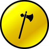 medieval axe button