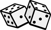 stock photo of deuce  - dices - JPG