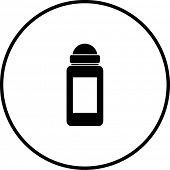deodorant or antiperspirant roll-on applicator symbol