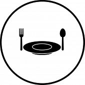 dish fork and spoon symbol