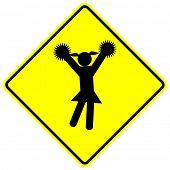 cheerleader sign