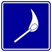 lighted match sign