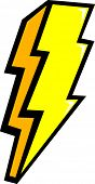 pic of lightning bolt  - lightning bolt - JPG