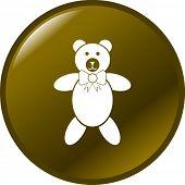 plush bear button