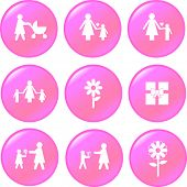 mother's day button set