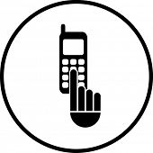 dialing a phone number symbol