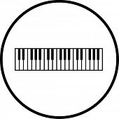 musical keyboard symbol