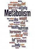 Metabolism, Word Cloud Concept 6 poster