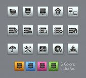 Network & Server // Satinbox Series -------It includes 5 color versions for each icon in different layers ---------