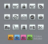 Shopping // Satinbox Series -------It includes 5 color versions for each icon in different layers ---------