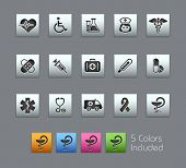 Medicine & Heath Care // Satinbox Series -------It includes 5 color versions for each icon in differ