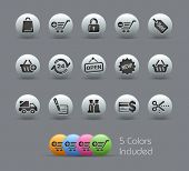 Shopping Icons // Pearly Series -------It includes 5 color versions for each icon in different layer