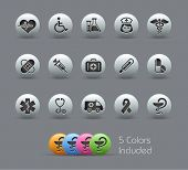 Medical Icons // Pearly Series -------It includes 5 color versions for each icon in different layers