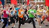 VITEBSK, BELARUS - MAY 15: Start of runners on a sports holiday